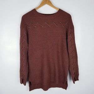 Love Riche Small Brown Oversized Knit Sweater